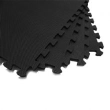 60 x 60 CM BLACK INTERLOCKING EVA SOFT FOAM EXERCISE FLOOR MATS GYM GARAGE OFFICE KIDS PLAY [ BLACK]